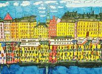 Boot, Stockholm, Himmel, Architektur