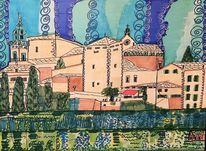 Tramuntana, Valdemossa, Mallorca, Malerei
