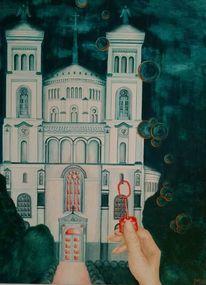 Kreuz, Kirche, Traum, Hand