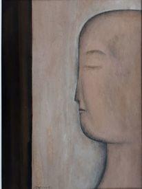 Malerei, Kopf, Acrylmalerei, Gesicht