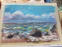 Welle, Strand, Meer, Zeichnungen