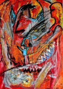 Angel, Acrylmalerei, Malerei,