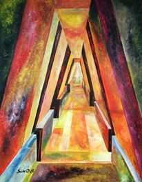 Labyrinth, Acrylmalerei, Malerei,