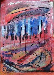 Regen, Acrylmalerei, Malerei,