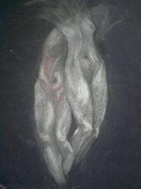 Mann, Frau, Verwoben, Malerei
