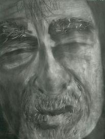 Schwarz, Grau, Gesicht, Malerei
