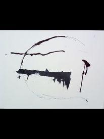 Schwarz, Kreis, Malerei,