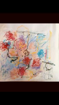 Linie, Zusammenspiel, Blumen, Malerei