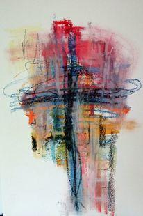Bunt, Struktur, Kreuz, Malerei