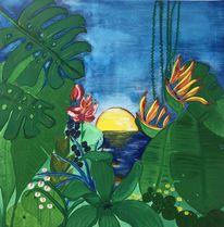 Urwald, Pflanzen, Fantasie, Malerei