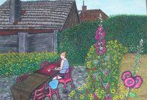 Malerei, Pflanzen, Pommern, Blumen