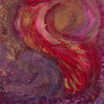 Acrylmalerei, Gold, Abstrakt, Intuitive