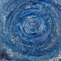Intuition, Blau, Malerei, Acrylmalerei