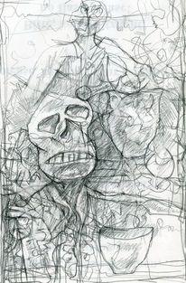 Menschen, Abstrakt, Expressionismus, Zeichnungen
