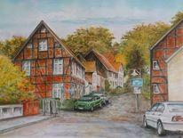 Mecklenburg, Burg stargard, Altstadt, Herbst
