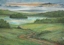 Seenplatte, Aquarellmalerei, Mecklenburg, Aquarell