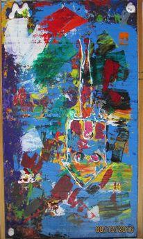Abstrakt, Experimentell, Acrylmalerei, Malerei