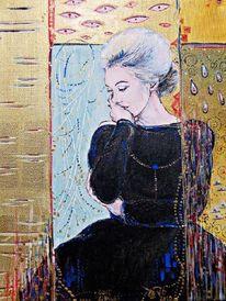 Klimt, Portrait, Monroe, Malerei