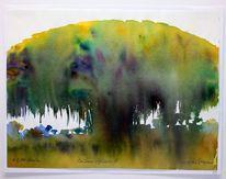 Baum, Landschaft, Afrika, Aquarell