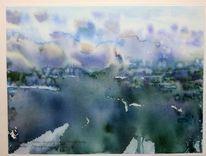 Aquarellmalerei, Landschaftsmalerei, Afrika, Aquarell