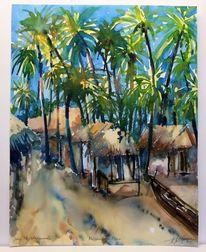 Ozean, Meer, Massai, Aquarellmalerei