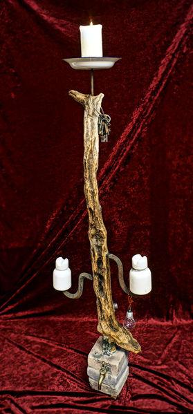 Stromaufall, Dürre, Schlüssel, Surreal, Kerzen, Arrangement