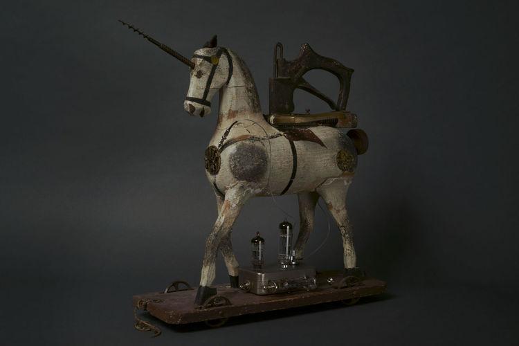Surreal, Surrament, Objekt, Assemblage, Skulptur, Plastik