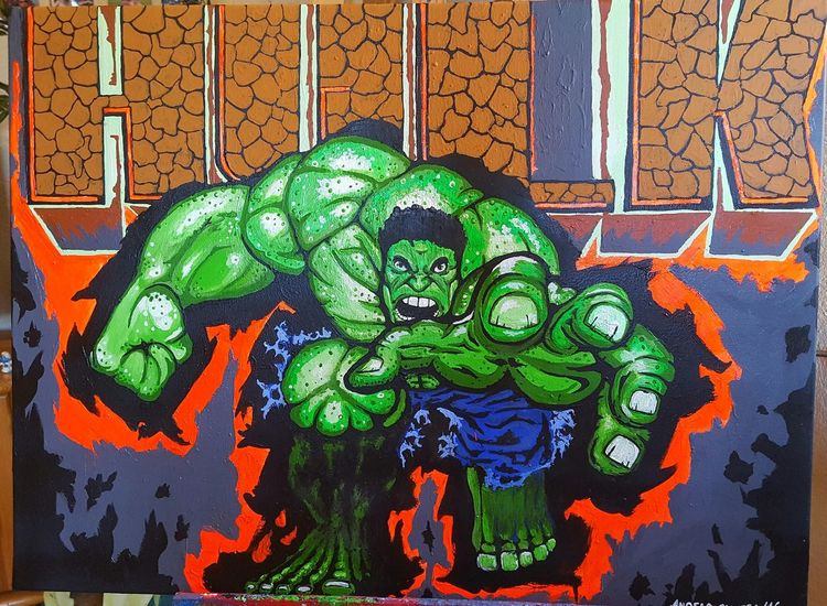 The incredible hulk, Comic, Fantasie, Zeichnung, Malerei