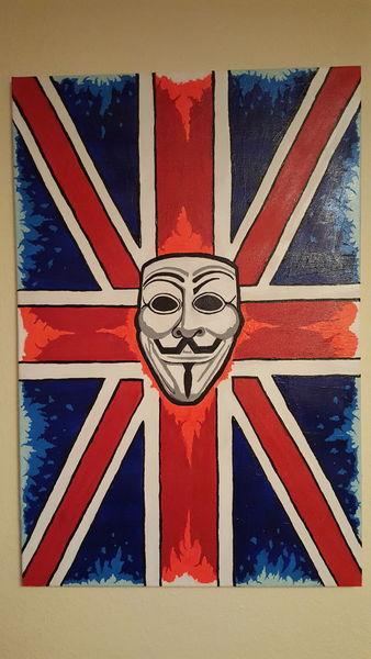 Bunt, Großbritannien, Farben, Zeichnung, Acrylmalerei, Malerei