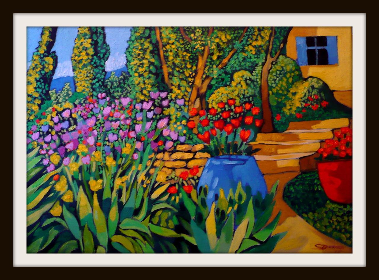 Garten toskana toskana sommer garten malerei von christoph dames bei kunstnet - Toskana garten ...