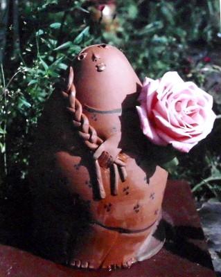Keramik, Skulptur, Figur, Gartenfigur, Frau, Töpferei