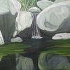 Gestein, Ölmalerei, Felsen, Natur