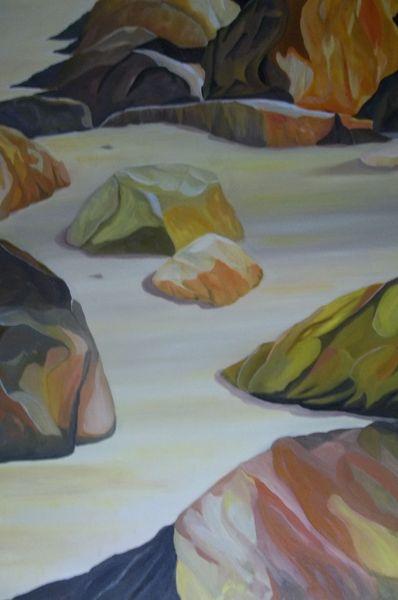 Sand, Strand, Stein, Felsen, Farben, Malerei