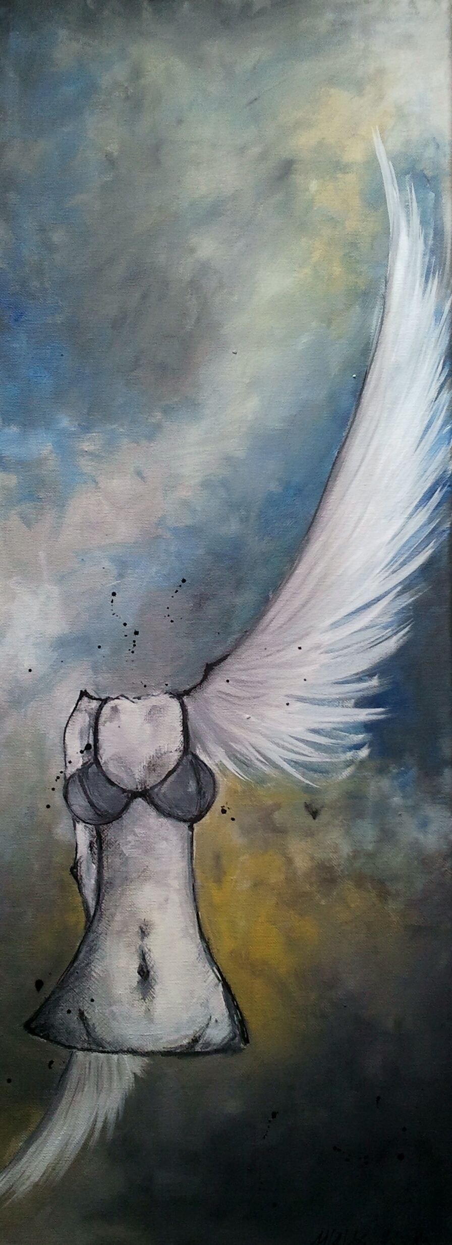 Nur Einen Flügelschlag Entfernt Engel Traum Akt Flügelschlag