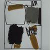 Grau, Abstrakt, Ocker, Schwarz weiß