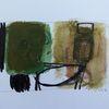 Schwarz, Weiß, Abstrakt, Oliv