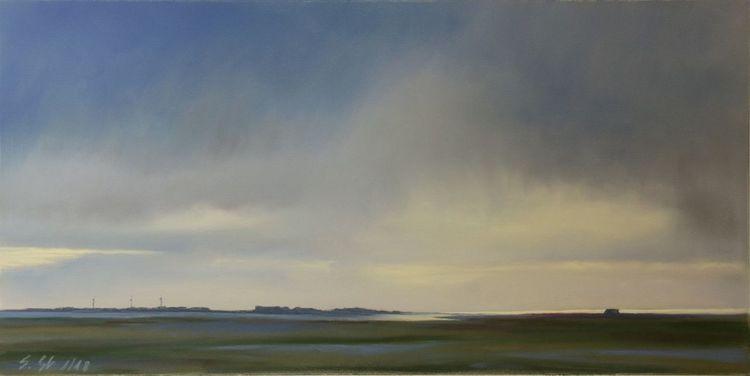 Licht, Dänemark, Fjord, Nordsee, Regen, Malerei