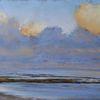 Küste, Strand, Schillig, Wolken
