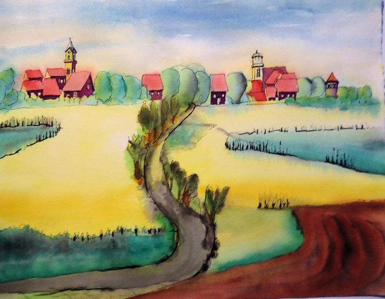 Landschaft, Raps, Mecklenburg, Meeraugen, Dorf, Straße