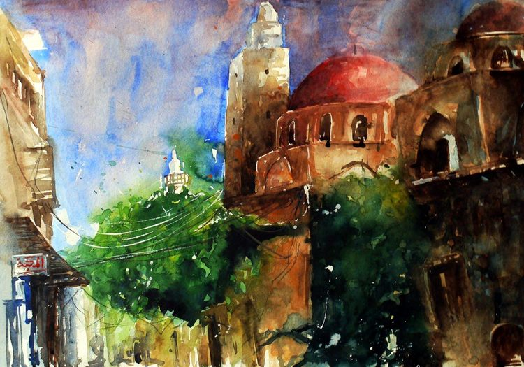 Aquarell, Architektur