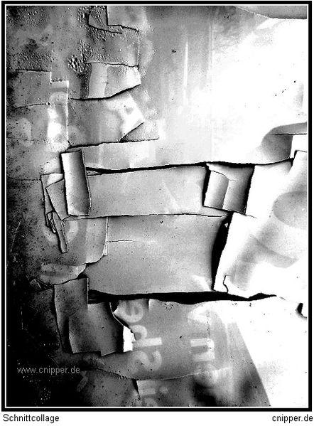Berlin, Malerei, Schnittcollage,