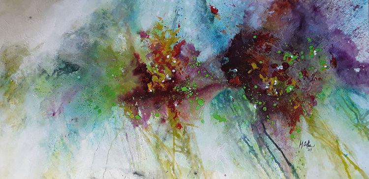 Farben, Blumen, Blüte, Frühling, Abstrakte malerei, Bunt