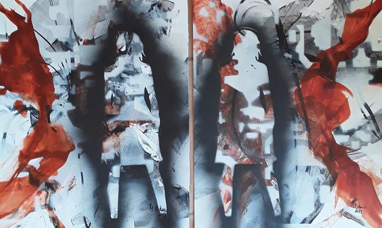 Mädchen, Schwarz, Kupferfarben, Frau, Grau, Menschen