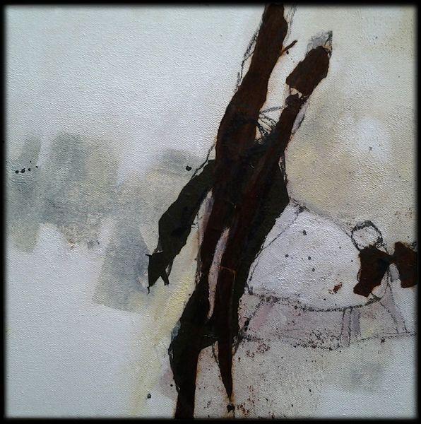 Linie, Abstrakte malerei, Gelb, Braun, Mischtechnik, Dekoration