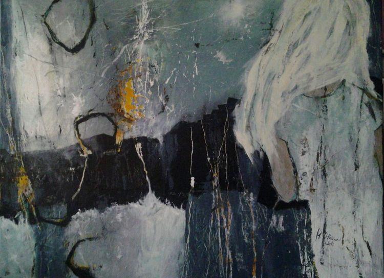 Stern, Abstrakt, Mädchen, Fantasie, Malerei