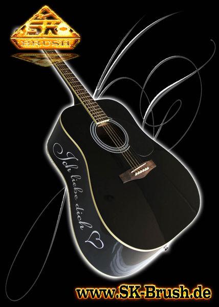 Ich liebe dich, Gitarre, Pinstriping, Handlinierung