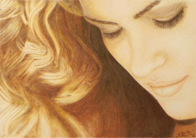 Zeichnung, Portraitzeichnung, Gesicht, Gia carangi, Bleistiftzeichnung, Buntstiftzeichnung
