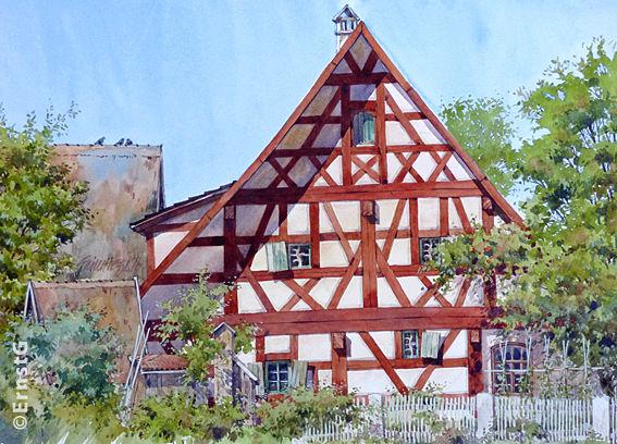Bild aquarell architektur von ernstg bei kunstnet for Architektur aquarell