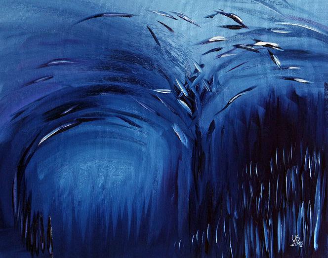 Abstrakt, Blau, Arktis, Malerei