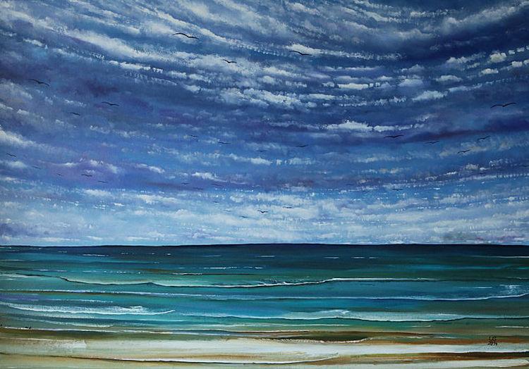 Strand, See, Meer, Malerei, Gemälde, Sehnsucht